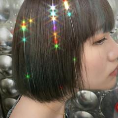 ショートボブ ボブ ミニボブ モード ヘアスタイルや髪型の写真・画像