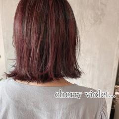 ベリーピンク ナチュラル おしゃれさんと繋がりたい ラズベリーピンク ヘアスタイルや髪型の写真・画像
