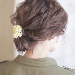 グラデーションカラー フェミニン 大人かわいい ヘアアレンジ ヘアスタイルや髪型の写真・画像