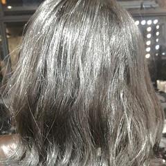 ブルージュ ハイライト フェミニン グレージュ ヘアスタイルや髪型の写真・画像