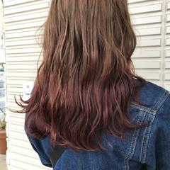ロング グラデーションカラー ガーリー 外国人風 ヘアスタイルや髪型の写真・画像