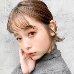 インナーカラーオレンジ 前髪アレンジ うる艶カラー インナーカラーシルバー ヘアスタイルや髪型の写真・画像