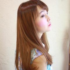 フェミニン 春 ブラウン ロング ヘアスタイルや髪型の写真・画像