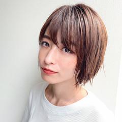 アウトドア ヘアアレンジ ショート ショートボブ ヘアスタイルや髪型の写真・画像