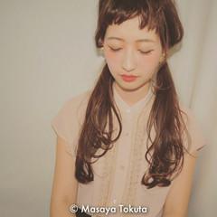 色気 ツインテール セミロング 大人かわいい ヘアスタイルや髪型の写真・画像
