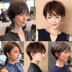 40代 ショート ショートヘア ショートボブ ヘアスタイルや髪型の写真・画像