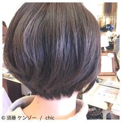 ナチュラル ショート 艶髪 ヘアスタイルや髪型の写真・画像