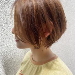 ナチュラル 大人ショート ショートボブ ショート ヘアスタイルや髪型の写真・画像