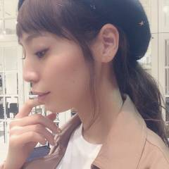 波ウェーブ ロング 秋 ベレー帽 ヘアスタイルや髪型の写真・画像