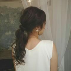 ヘアアレンジ 夏 編み込み 涼しげ ヘアスタイルや髪型の写真・画像