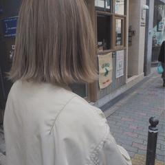 ボブ ミルクティー ストリート 外国人風 ヘアスタイルや髪型の写真・画像