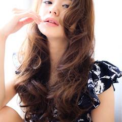 ロング 大人かわいい パーマ ゆるふわ ヘアスタイルや髪型の写真・画像