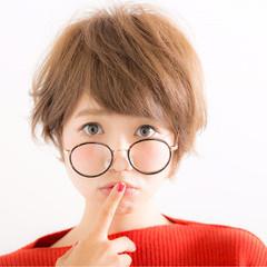 ショートボブ ショート ナチュラル かわいい ヘアスタイルや髪型の写真・画像