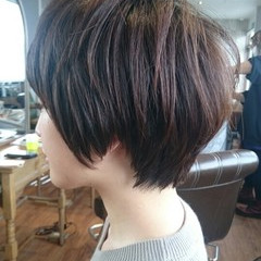 ショート ベリーショート マッシュ ニュアンス ヘアスタイルや髪型の写真・画像