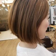 ダブルカラー ナチュラル ブリーチ ロブ ヘアスタイルや髪型の写真・画像