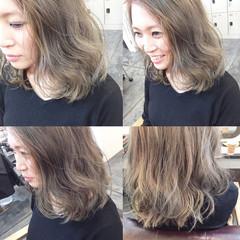 ハイライト グラデーションカラー ヌーディベージュ 外国人風 ヘアスタイルや髪型の写真・画像