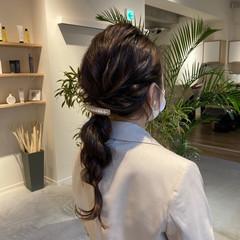 セミロング 大人かわいい フェミニン ヘアアレンジ ヘアスタイルや髪型の写真・画像