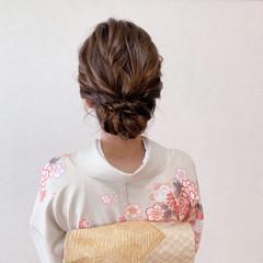 着物 ミディアム お呼ばれ 卒業式 ヘアスタイルや髪型の写真・画像