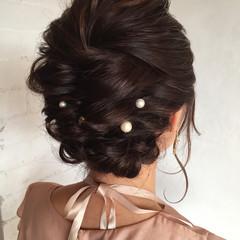 二次会 ミディアム アンニュイほつれヘア 上品 ヘアスタイルや髪型の写真・画像