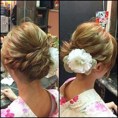 ヘアアレンジ アップスタイル ゆるふわ 和装 ヘアスタイルや髪型の写真・画像