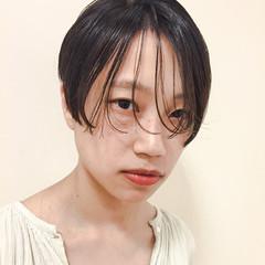 黒髪 フェミニン パーマ ストリート ヘアスタイルや髪型の写真・画像