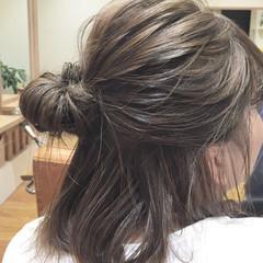 涼しげ 簡単ヘアアレンジ 夏 ハイライト ヘアスタイルや髪型の写真・画像