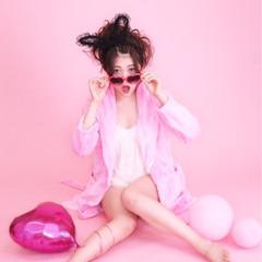 ゆるふわ アップスタイル フェミニン ミディアム ヘアスタイルや髪型の写真・画像