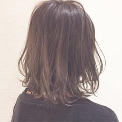 外国人風 グラデーションカラー モード ミディアム ヘアスタイルや髪型の写真・画像