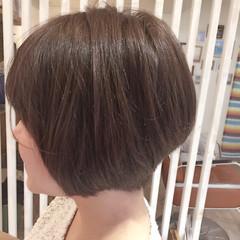 ショート ショートボブ ガーリー 艶髪 ヘアスタイルや髪型の写真・画像