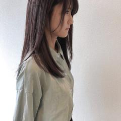 ロング ダークカラー ストレート ダークトーン ヘアスタイルや髪型の写真・画像