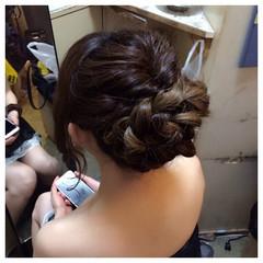 ロング ねじり くるりんぱ ゆるふわ ヘアスタイルや髪型の写真・画像
