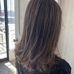 エレガント グラデーションカラー バレイヤージュ 大人ハイライト ヘアスタイルや髪型の写真・画像