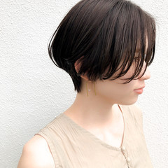 ショート ハンサムショート 大人ショート ショートボブ ヘアスタイルや髪型の写真・画像
