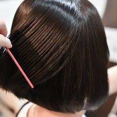 ヘアケア 美髪矯正 ストレート ボブ ヘアスタイルや髪型の写真・画像