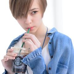 ストリート ショート 前髪あり 外国人風 ヘアスタイルや髪型の写真・画像