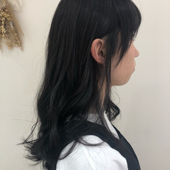 コテ巻き セミロング ナチュラル 透明感カラー ヘアスタイルや髪型の写真・画像