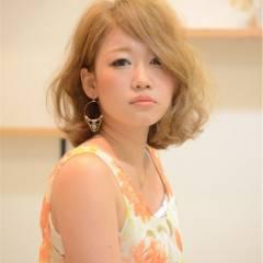 ミディアム 外国人風 パーマ ヘアスタイルや髪型の写真・画像