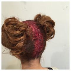 ヘアアレンジ お団子 外国人風 セミロング ヘアスタイルや髪型の写真・画像