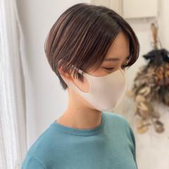 デート ショート ハンサムショート ナチュラル ヘアスタイルや髪型の写真・画像