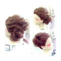 ロング ショート ゆるふわ ヘアアレンジ ヘアスタイルや髪型の写真・画像