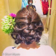 和装 まとめ髪 編み込み ブライダル ヘアスタイルや髪型の写真・画像