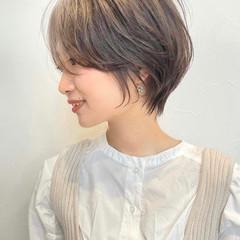 ナチュラル インナーカラー ショートヘア ショート ヘアスタイルや髪型の写真・画像