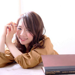 ミディアム 秋 ロブ 透明感 ヘアスタイルや髪型の写真・画像