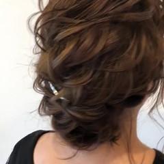 上品 ヘアアレンジ 結婚式 ミディアム ヘアスタイルや髪型の写真・画像