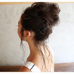 簡単ヘアアレンジ ショート お団子 ロング ヘアスタイルや髪型の写真・画像