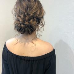 ヘアセット フェミニン 結婚式 ブライダル ヘアスタイルや髪型の写真・画像