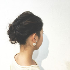 外国人風 ヘアアレンジ ゆるふわ ボブ ヘアスタイルや髪型の写真・画像
