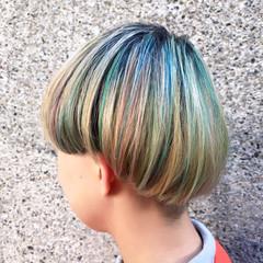 ストリート 外国人風カラー ボブ ダブルカラー ヘアスタイルや髪型の写真・画像