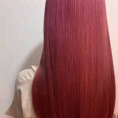 ガーリー 髪質改善トリートメント ピンク 髪質改善カラー ヘアスタイルや髪型の写真・画像