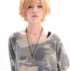 ストリート 外国人風 ショート 大人かわいい ヘアスタイルや髪型の写真・画像